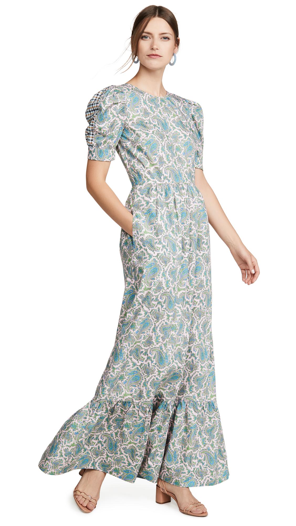 BAUM UND PFERDGARTEN Aerin Dress - Coral Pink Paisley