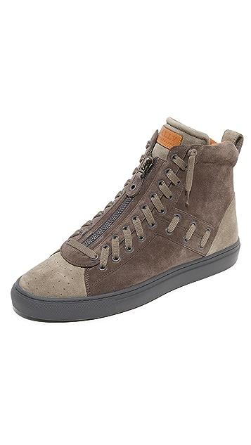 Bally Hekem Woven High Top Sneakers