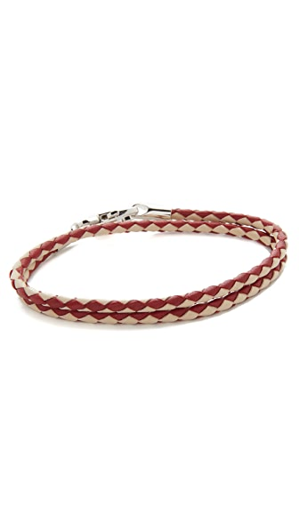 Bally Stabbio Woven Leather Bracelet
