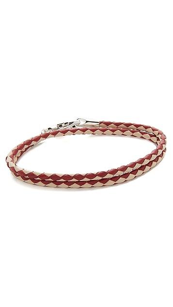Bally Stabbio Woven Leather Bracelet