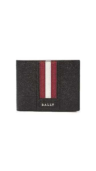 Bally Tevye Stripe Leather Wallet