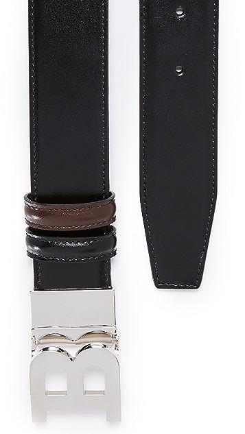 Bally B Buckle Adjustable Reversible Belt