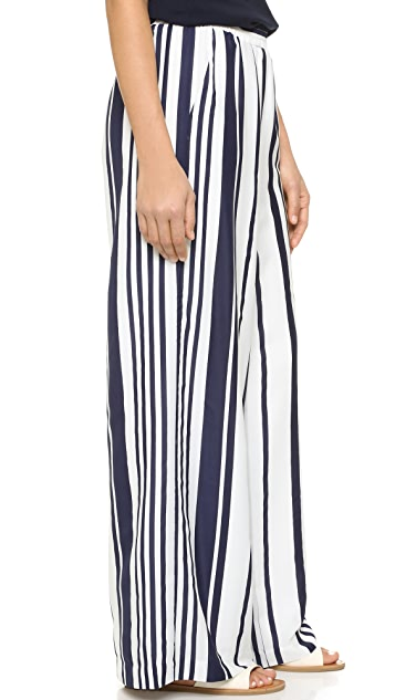 BB Dakota Jillian Striped Wide Leg Pants