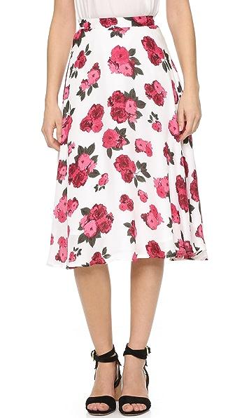 Летняя юбка Ashley с принтом в виде роз