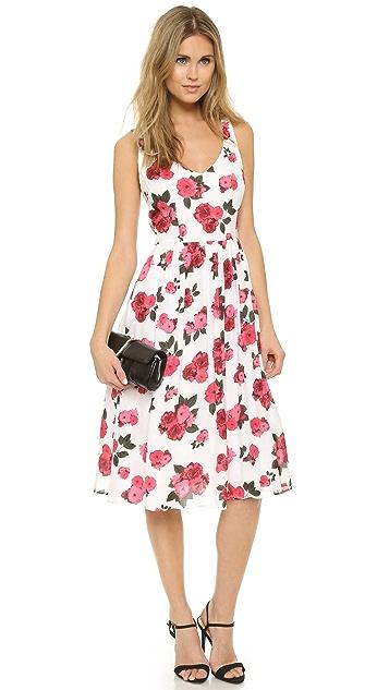 BB Dakota Claudia Summer Rose Printed Midi Dress