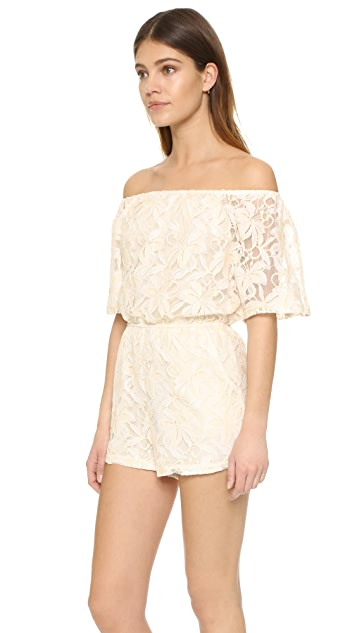 BB Dakota Nikola Off Shoulder Lace Romper