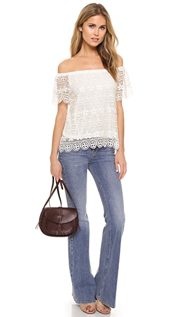 BB Dakota Polly Lace Off Shoulder Top