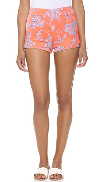 BB Dakota Thea Floral Jacquard Shorts