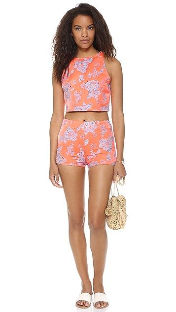BB Dakota Thea Floral Jacquard Shorts