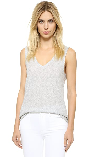BB Dakota Sander Cotton Tank - Light Heather Grey