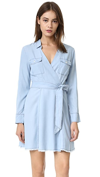 Bb Dakota Gennesse Indigo Wrap Dress - Blue