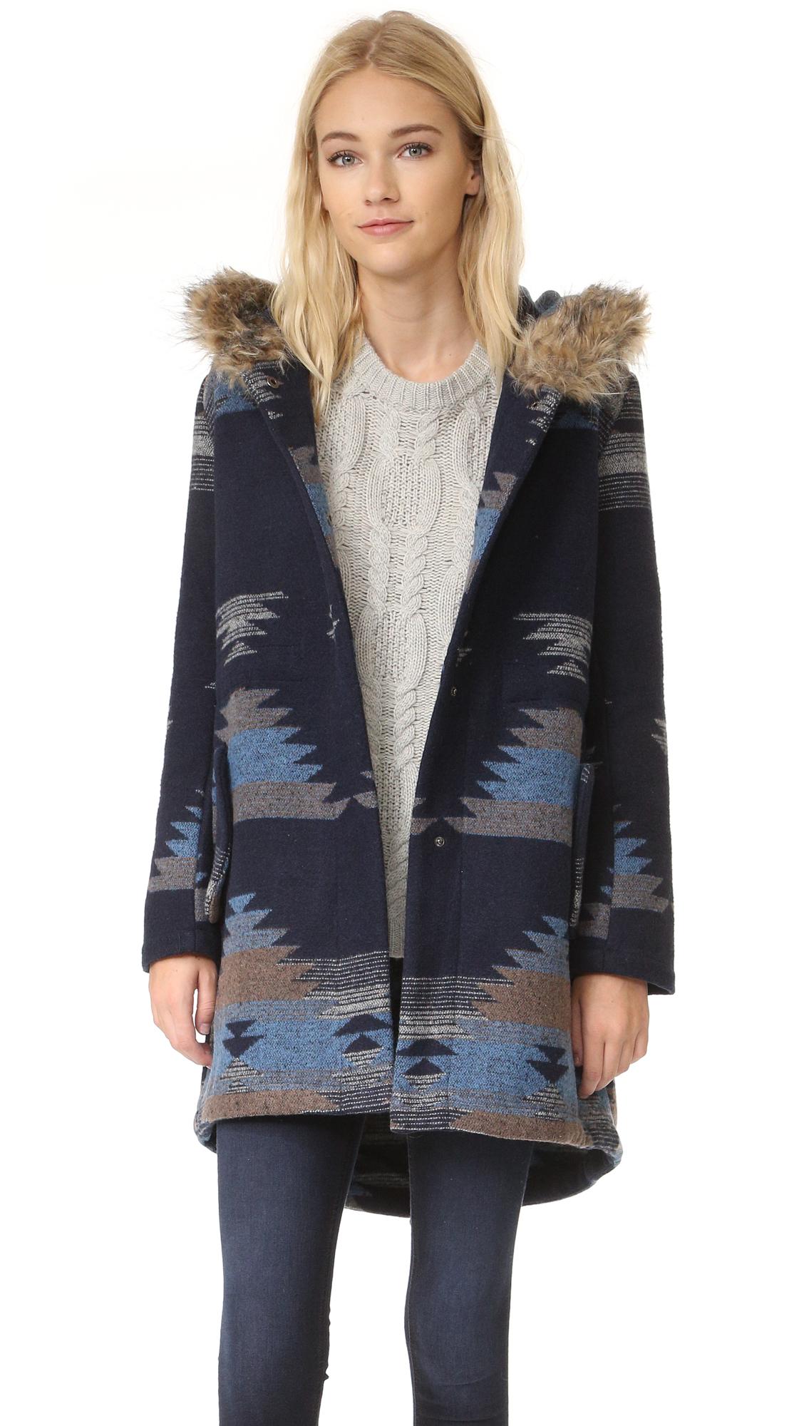 BB Dakota Dalley Tribal Pattern Hooded Coat  fc6ead411d1a4
