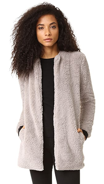 BB Dakota Merrill Wubby Collarless Jacket In Taupe