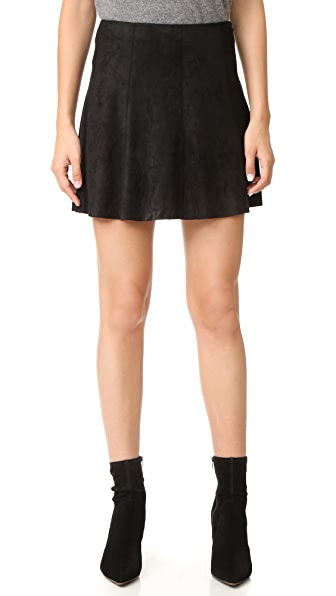 BB Dakota Kimber Faux Suede Skirt