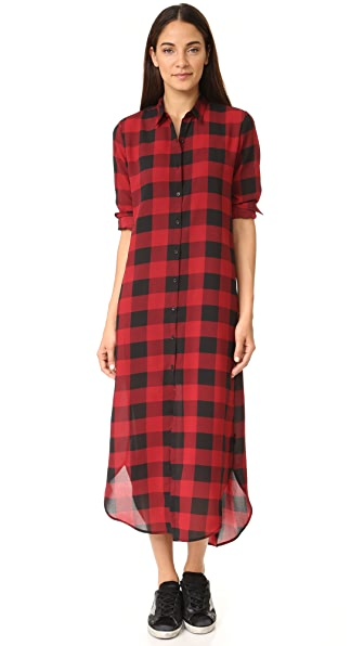 BB Dakota Dunkirk Buffalo Plaid Shirtdress