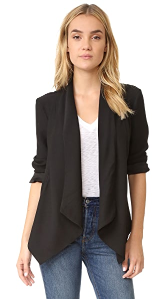 BB Dakota Barnette Drape Front Blazer - Black
