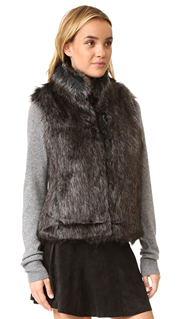 BB Dakota Colton Faux Fur Vest