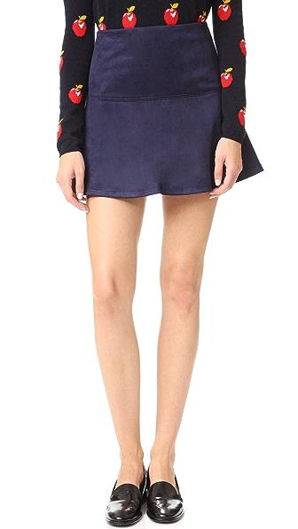 BB Dakota Jack by BB Dakota Abrams Faux Suede Mini Skirt - Night Sky