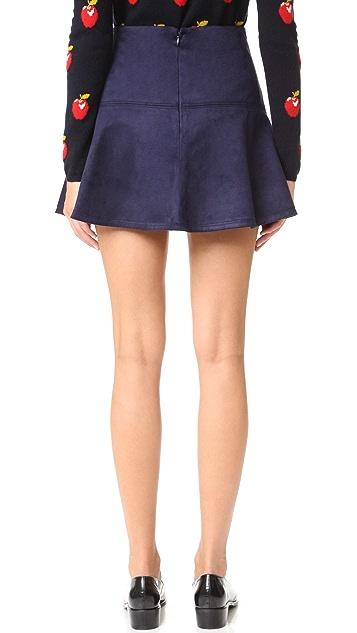 BB Dakota Jack by BB Dakota Abrams Faux Suede Mini Skirt