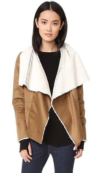 BB Dakota Bourne Faux Shearling Jacket - Camel