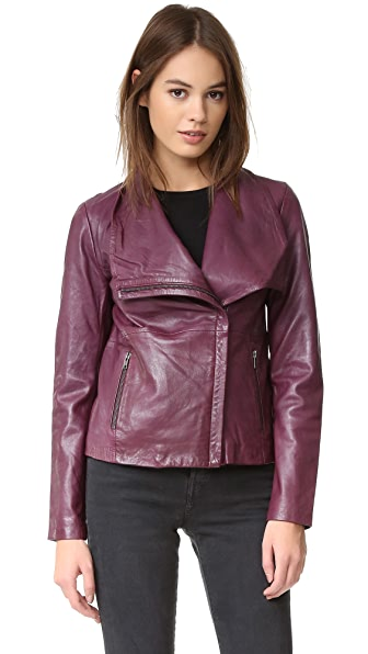 BB Dakota Newell Washed Leather Jacket
