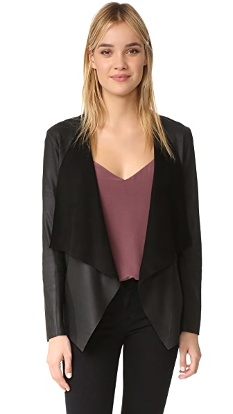 BB Dakota Derby Drapey Leather Jacket