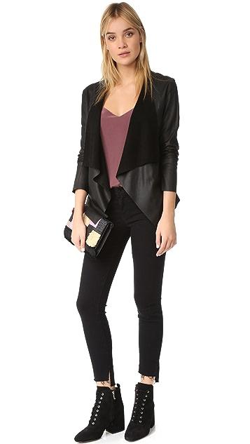 BB Dakota Derby Drapey Leather Jacket