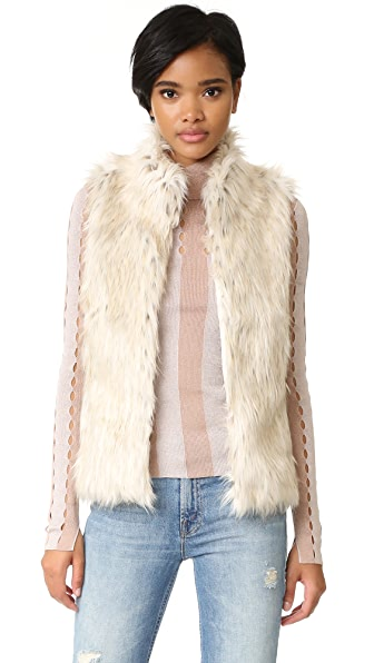 BB Dakota Brewer Faux Fur Vest