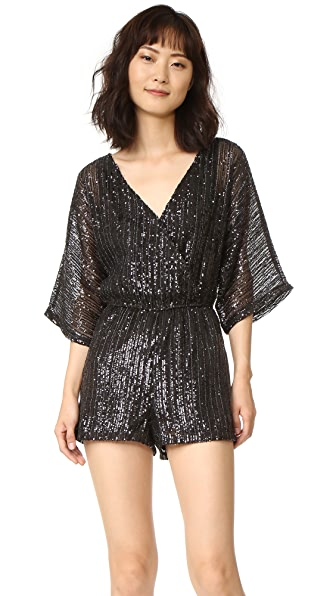 BB Dakota Clare Sequin Romper - Black