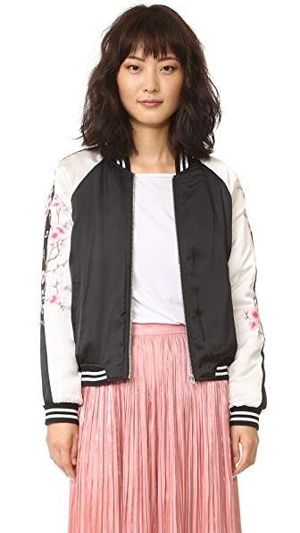 BB Dakota McKay Embroidered Bomber Jacket - Black