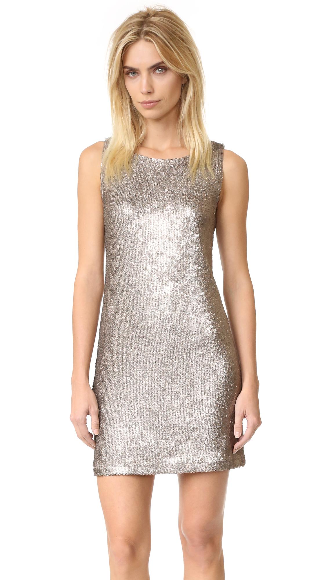 Bb Dakota Penley Sequin Shift Dress - Gold