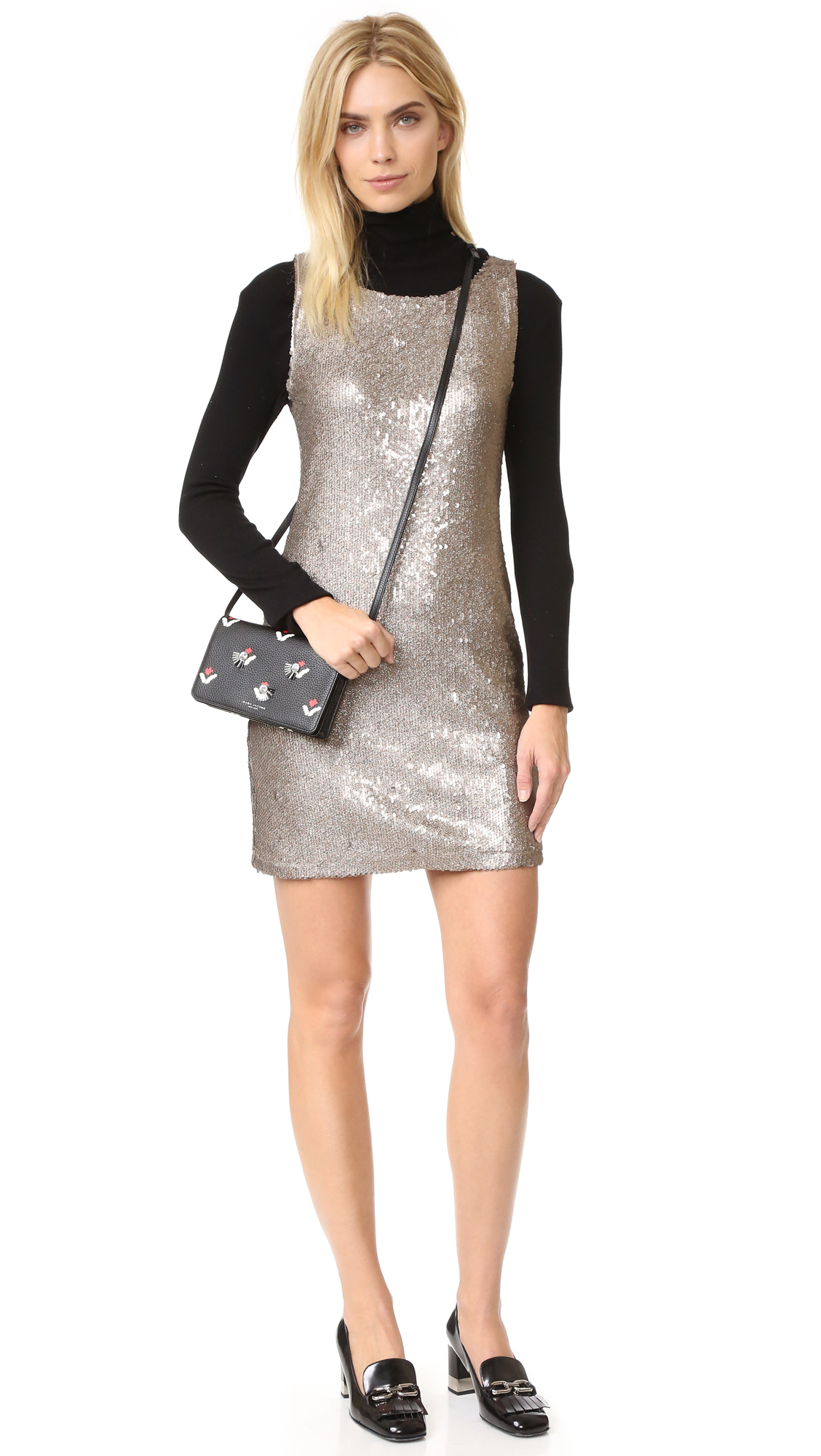 0272fbe430c BB Dakota Penley Sequin Shift Dress