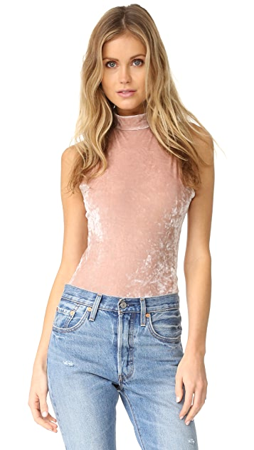 BB Dakota Hatherley Crushed Velvet Bodysuit