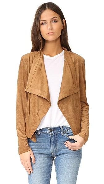 BB Dakota Nanette Drape Front Jacket