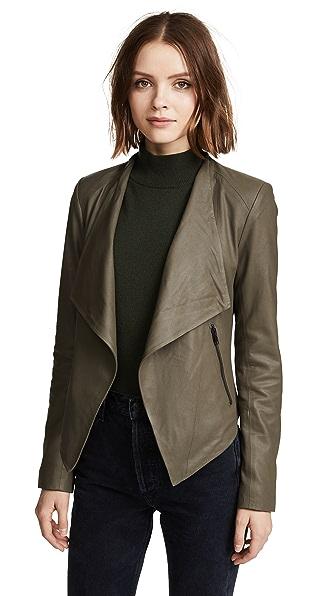 BB Dakota Siena Soft Leather Jacket - Sage