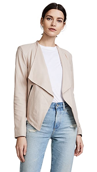 BB Dakota Siena Soft Leather Jacket - Parchment