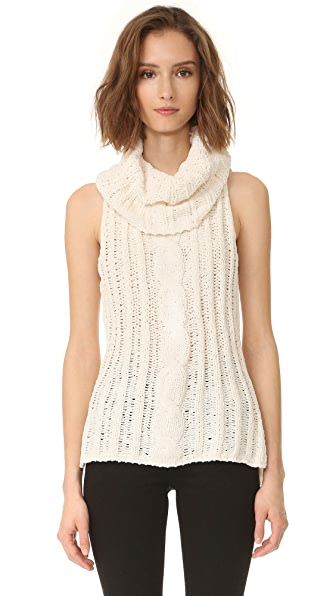 BB Dakota Tenbrook Cowl Neck Cable Vest