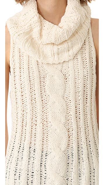 BB Dakota Tenbrook Cowl Neck Cable Vest