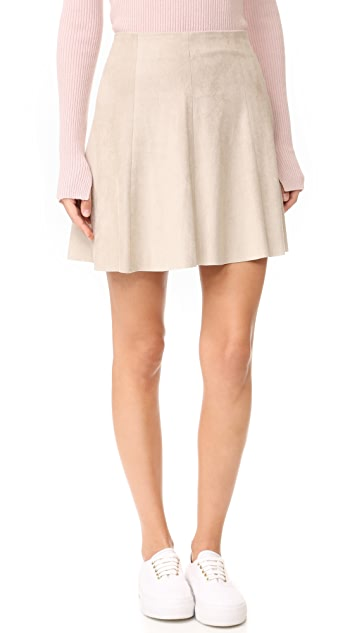 BB Dakota Caswell Faux Suede Skirt