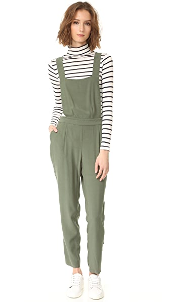BB Dakota Kelly Crepe Overalls - Sage