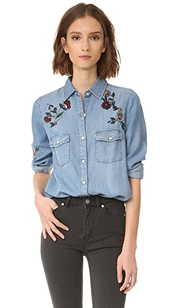 BB Dakota Trent Floral Embroidered Shirt