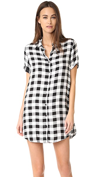 BB Dakota Alexia Plaid Shirtdress