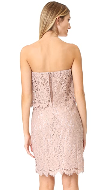 BB Dakota R.S.V.P by BB Dakota Sakura Strapless Lace Dress
