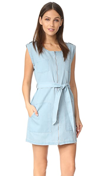 BB Dakota Jack by BB Dakota Stefania Chambray Zip Front Dress at Shopbop