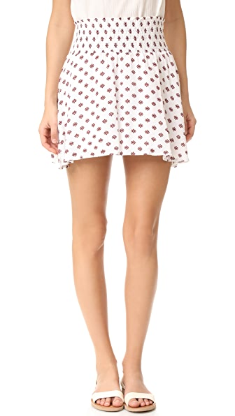 BB Dakota Jack by BB Dakota Falana Saharan Geo Print Skirt - Bright White