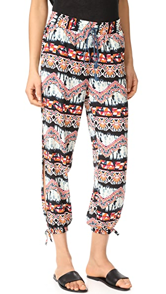 BB Dakota Jack by BB Dakota Kela Artisan Wave Jogger Pants - Ivory