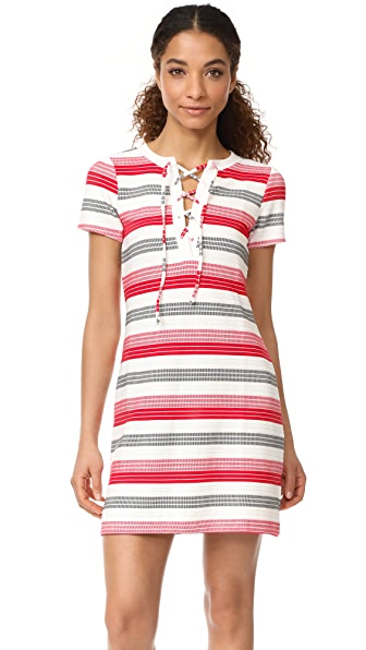 BB Dakota Jack by BB Dakota Lijah Stripe Dress - Ivory