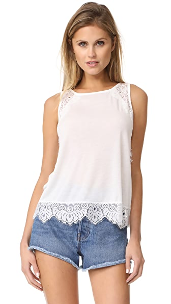 BB Dakota Brent Scallop Lace Tank - Ivory