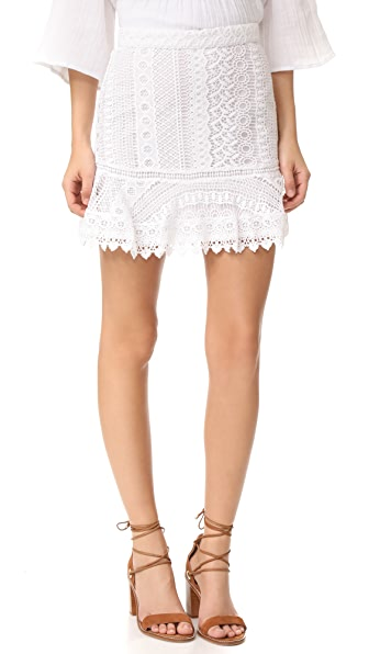BB Dakota Vera Lace Miniskirt - Optic White
