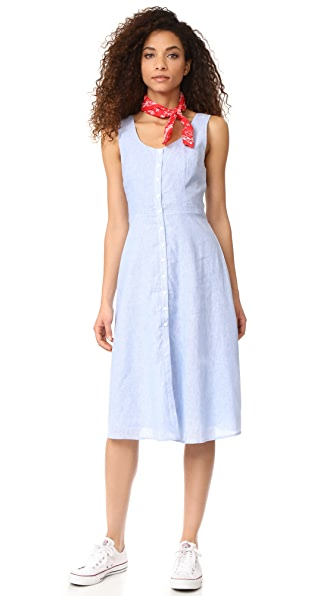 BB Dakota Lavinia Pinstripe Linen Dress
